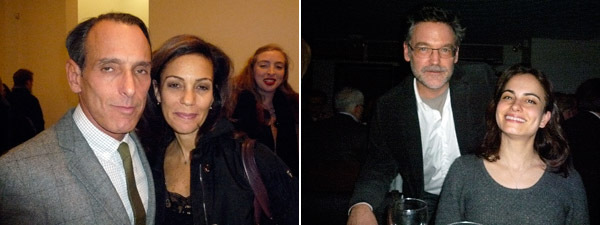 Left: Artist David Salle with Brant Publications's Susan Cappa. Right: Artists Steve Mumford and Inka Essenhigh.