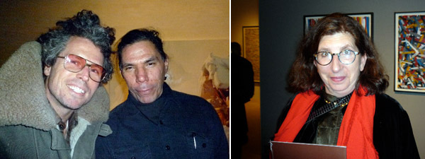 Left: Writer Bill Powers and artist Brad Kalhammer. Right: Whitney curator-at-large Joan Simon.