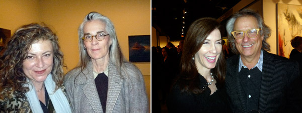 Left: Artists Patti Cronin and novelist Susanna Moore. Right: Barbara Eberlin and collector Mickey Cartin.