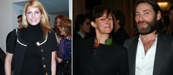 Left: Actress Meredith Ostrom. Right: Artists Rachel Howard and Mat Collishaw.
