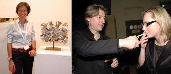 Left: L&M Arts's Dominique Lévy. Right: Jérôme Sans, artistic director for the Ullens Center for Contemporary Art.