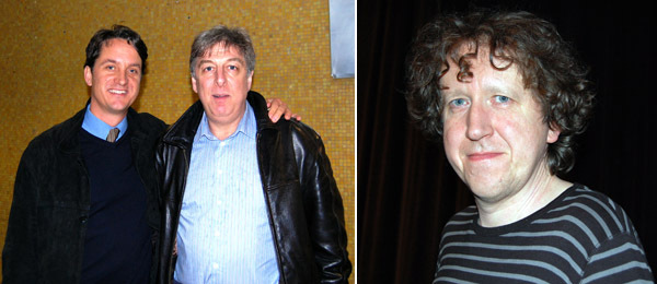 Left: Yale associate French professor Jean-Jacques Poucel with professor Peter Consenstein. Right: Oulipian Ian Monk.