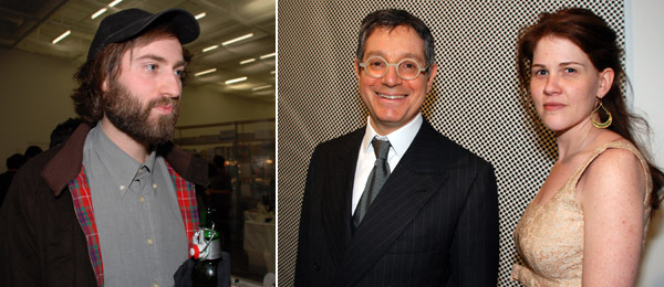 Left: Artist Tris Vonna-Michell. Right: Dealer Jeffrey Deitch.