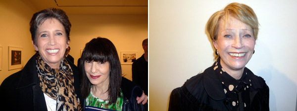 Left: Collector Beth Rudin DeWoody and Performa founder RoseLee Goldberg. Right: Collector Melva Bucksbaum.