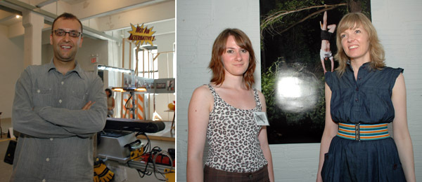 Left: Curator Miguel Amado. Right: Juliette Mauduit and Hekla Dogg Jonsdottir from Kling&Bang. (Photos: Ryan McNamara)