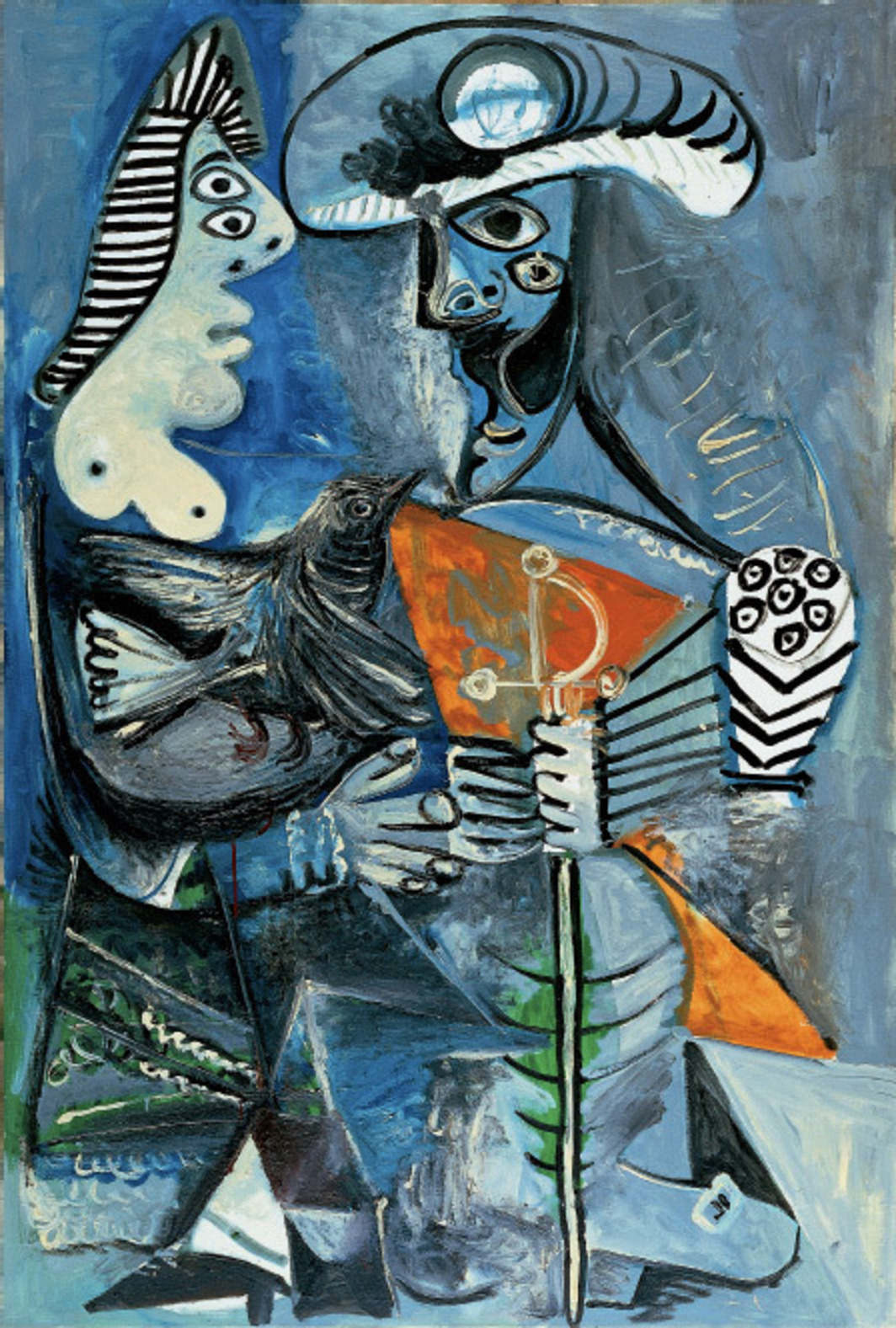 "Pablo Picasso, Couple, 1970, oil on canvas, 763⁄4 x 511⁄4""."