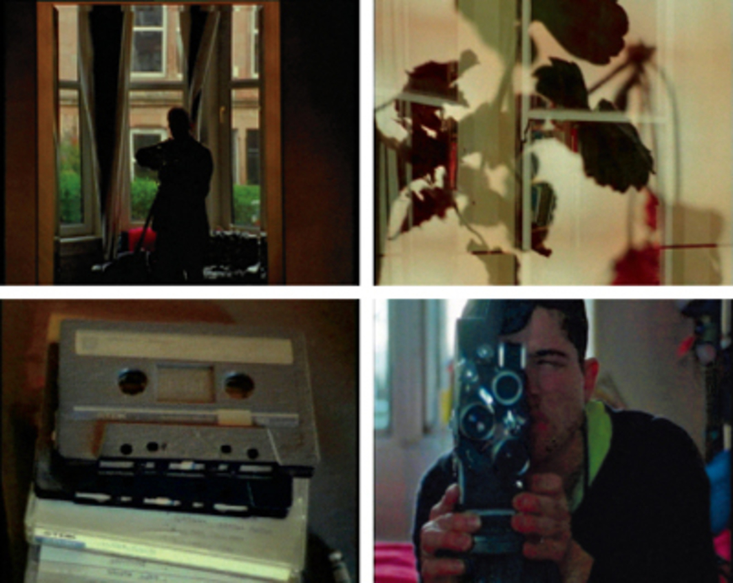 Luke Fowler, Tenement Films (3 Minute Wonders), 2009, stills from a suite of four color films in 16 mm, each 3 minutes. Clockwise from top left: Helen; David; Anna; Lester.