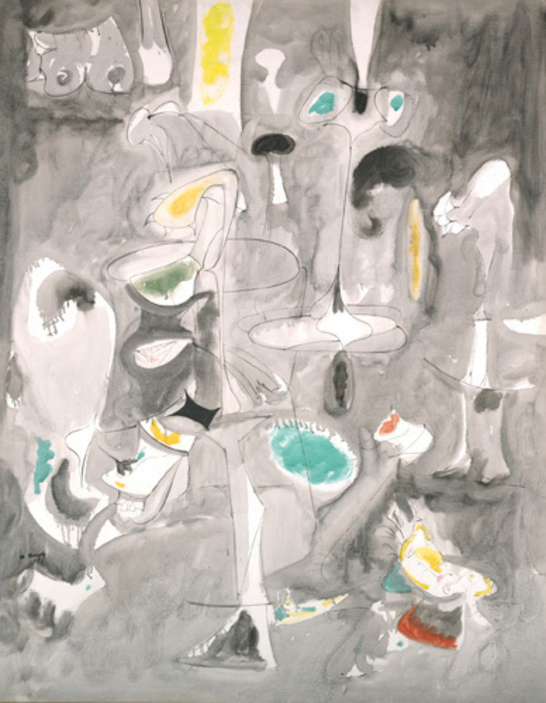 "Arshile Gorky, The Betrothal, 1947, oil on canvas, 50 5/8 x 39 1/4"". © 2009 Estate of Arshile Gorky/Artists Rights Society (ARS), New York."