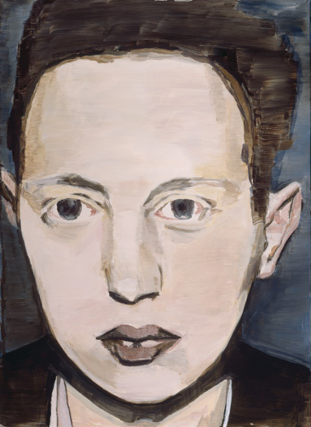 "Luc Tuymans, Der Diagnostische Blick V (The Diagnostic View V), 1992, oil on canvas, 22 7/8 x 16 1/2""."