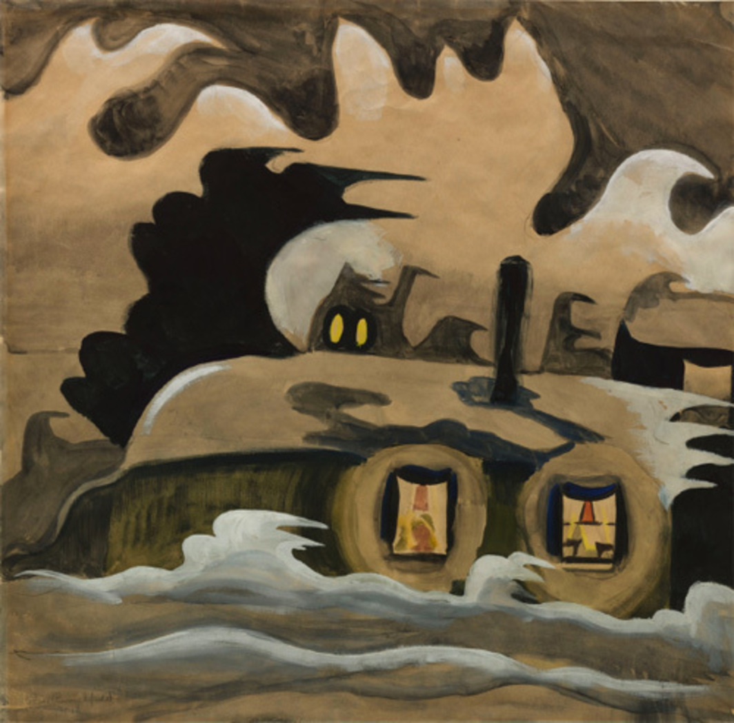 Charles Burchfield, The Night Wind, 1918, watercolor, gouache, and pencil. © The Museum of Modern Art.