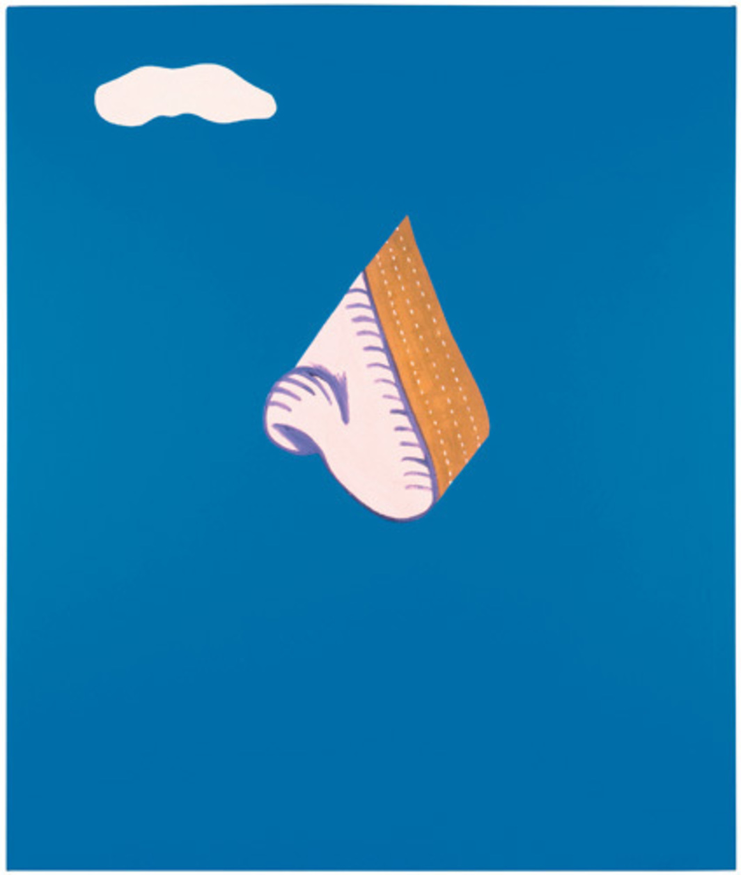 "John Baldessari, God Nose, 1965, oil on canvas, 68 x 57""."
