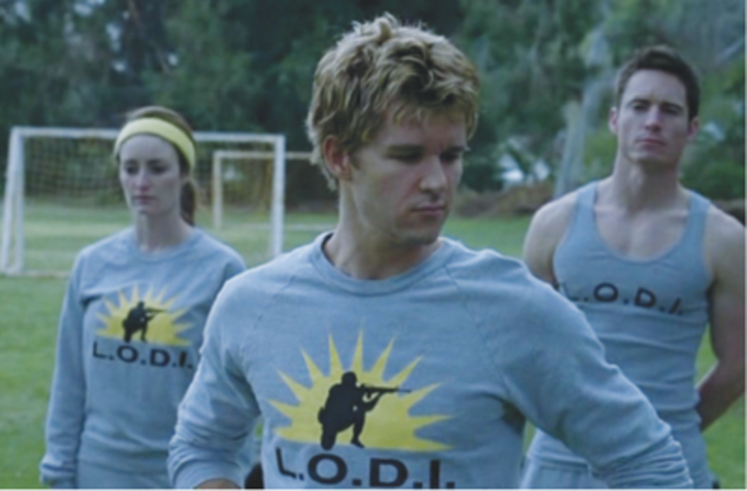 True Blood, 2008–, still from a television show on HBO. Center: Jason Stackhouse (Ryan Kwanten).