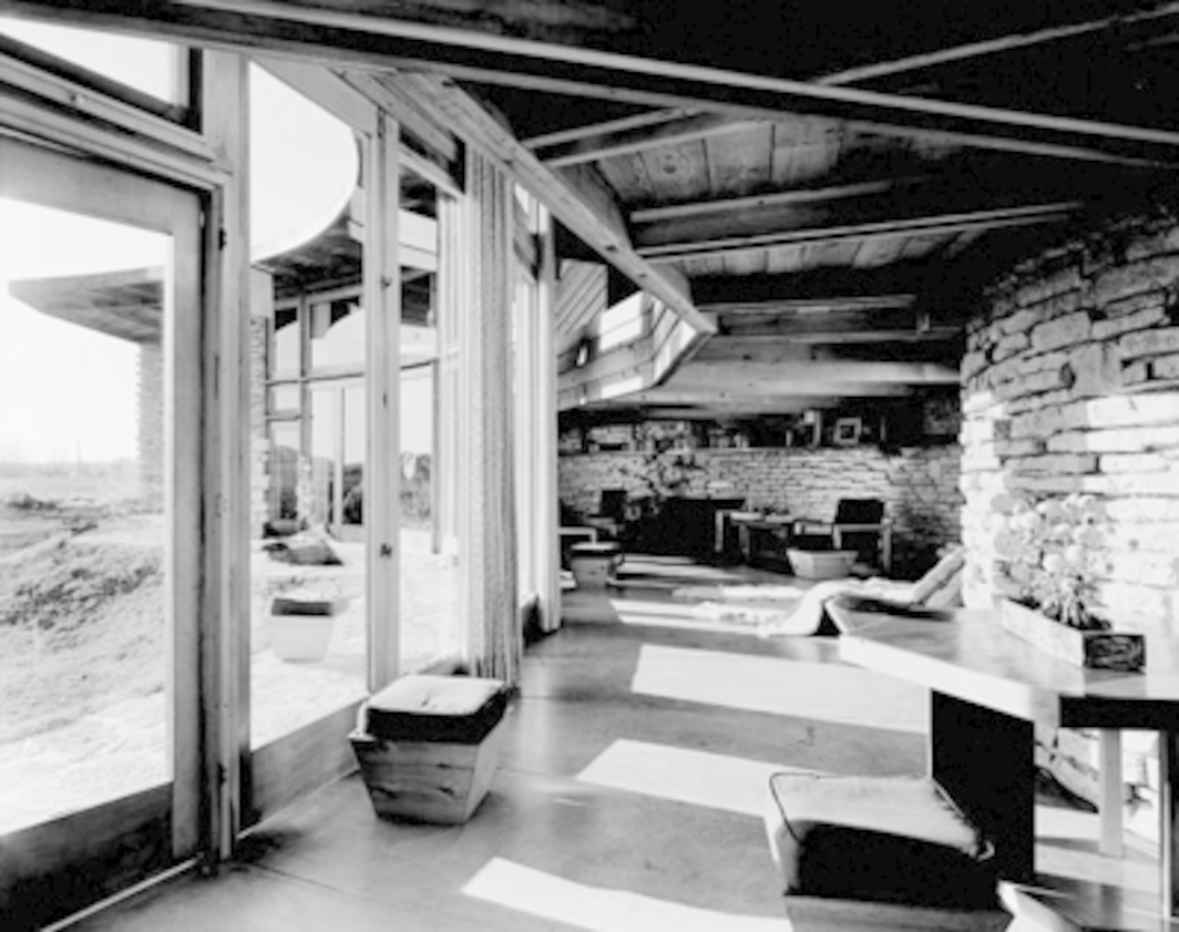 Frank Lloyd Wright, Herbert Jacobs House #2, 1943–48, Middleton, WI. Interior. Photo: Ezra Stroller. © Esto.
