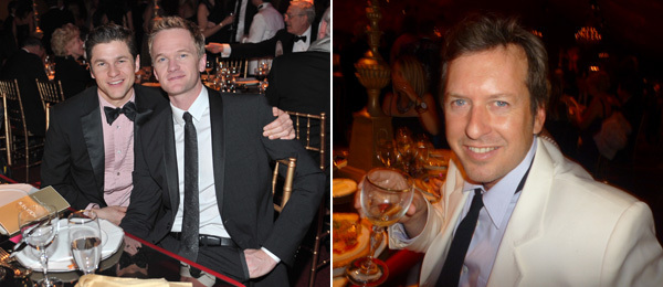 Left: David Burtka with actor Neil Patrick Harris. (Photo: WireImage) Right: Artist Doug Aitken.