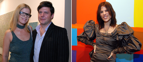 Left: Art Production Fund's Yvonne Force Villareal with artist Leo Villareal. Right: Art Production Fund's Doreen Remen.