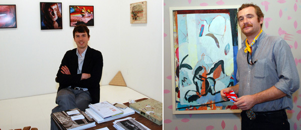 Left: Callicoon Fine Arts's Photi Giovanis. (Photo: David Velasco) Right: Artist Jesse Willenbring. (Photo: Ryan McNamara)