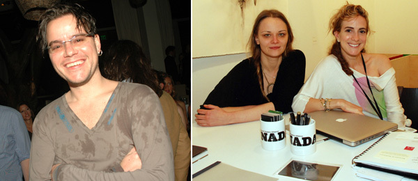 Left: Artist Marc Bijl. Right: Artist Megan Marrin and Renwick's Leslie Fritz. (Photos: David Velasco)