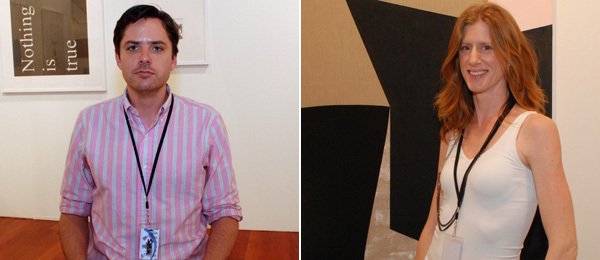 Left: Museum 52's Matthew Dipple. Right: Dealer Nicelle Beauchene. (Photos: David Velasco)