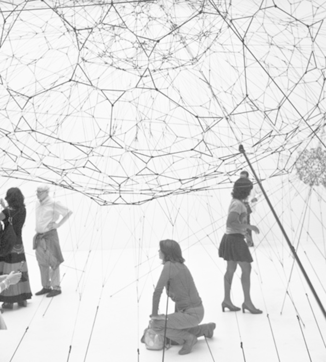 Tomás Saraceno, Galaxies Forming Along Filaments, like Droplets Along the Strands of a Spider's Web, 2009. Installation view, Venice Biennale, 2009.