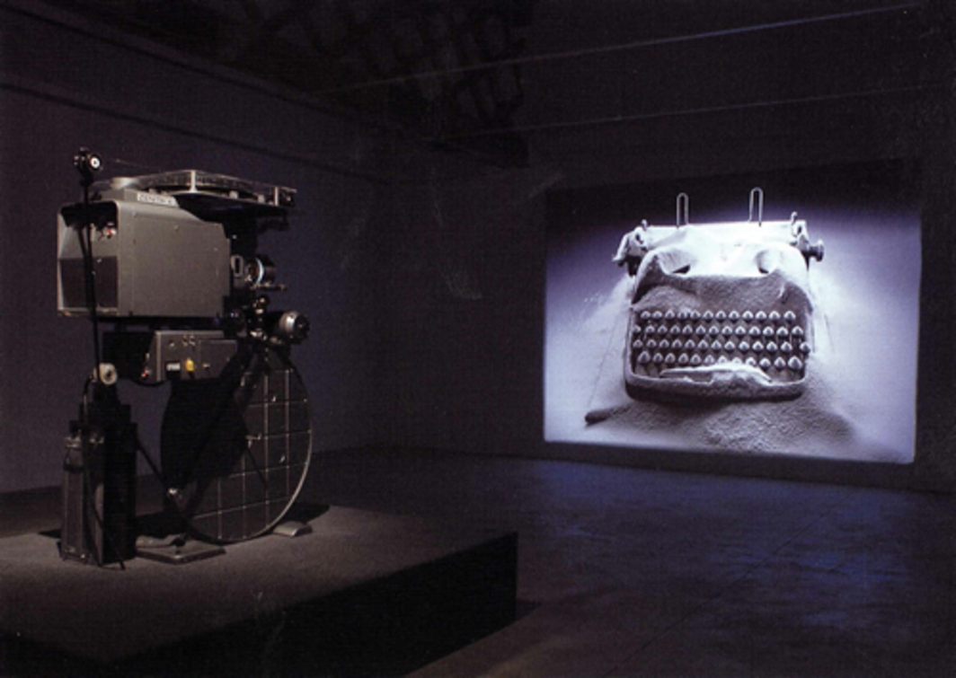 Rodney Graham, Rheinmetall/Victoria 8, 2003, installation view, dimensions variable. Museu d'Art Contemporani de Barcelona.