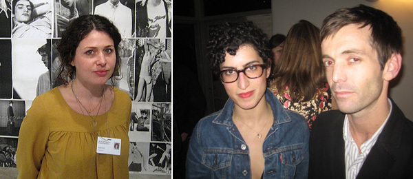 Left: Peres Projects's Sarah Walzer. Right: The Eighth Veil's Nicole Katz and Kane Austin.