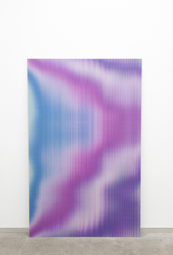"Gareth Long, Untitled (Zooey), 2010, lenticular print mounted on Dibond, 72 x 45""."