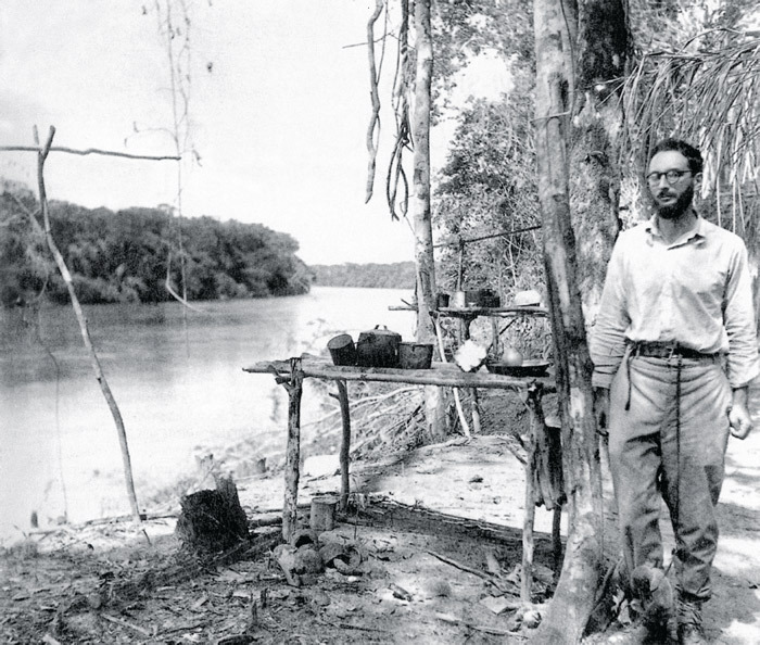 Anthropologist Claude Lévi-Strauss in Brazil ca. 1936. Photo: Apic/Getty Images.