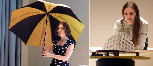 Left: Computer scientist Hilary Mason. Right: Artist Tauba Auerbach.