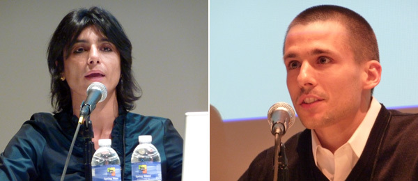 Left: Raqs Media Collective cofounder Monica Narula. Right: Web developer Andrew Kortina.