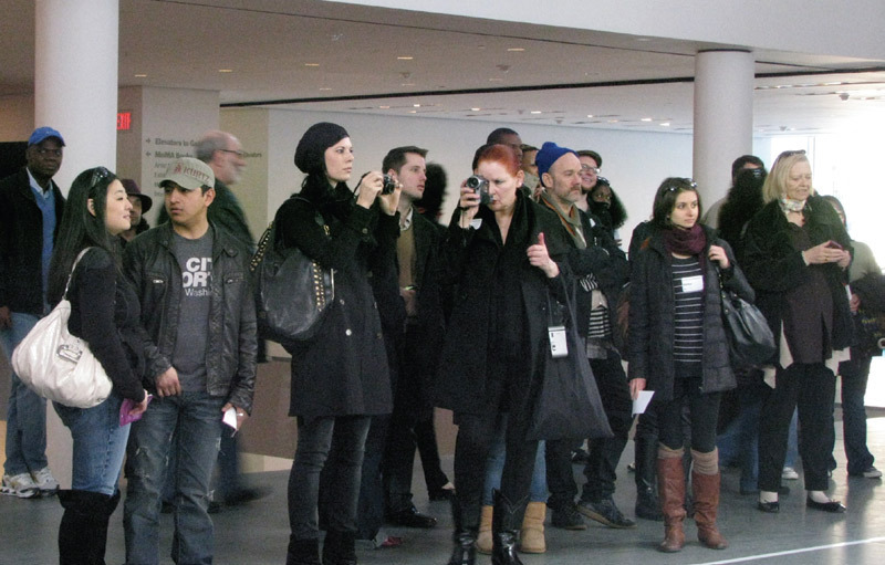 "Visitors to Marina Abramović's exhibition ""The Artist Is Present,"" Museum of Modern Art, New York, 2010. Photo: Carolina A. Miranda."