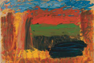 "Howard Hodgkin, Home, Home on the Range, 2001–2007, oil on wood, 80 1/4 x 105 1/8""."