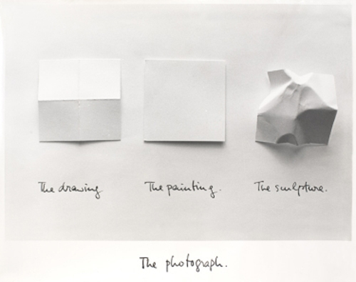 "Luis Camnitzer, The Photograph, 1981, laminated photograph, 11 x 13 3/4""."
