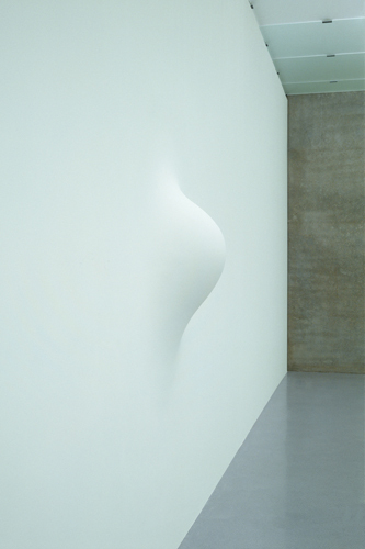 Anish Kapoor, When I am Pregnant, 1992, mixed media, variable dimensions. Installation view: Kunsthaus Bregenz, 2003. Photo: Nic Tenwiggenhorn.