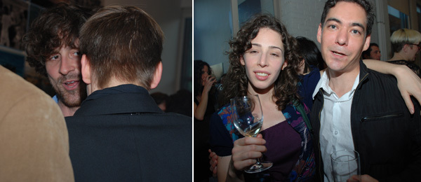 Left: Artist Wade Guyton. Right: Artists Liz Magic Laser and Ronnie Bass.