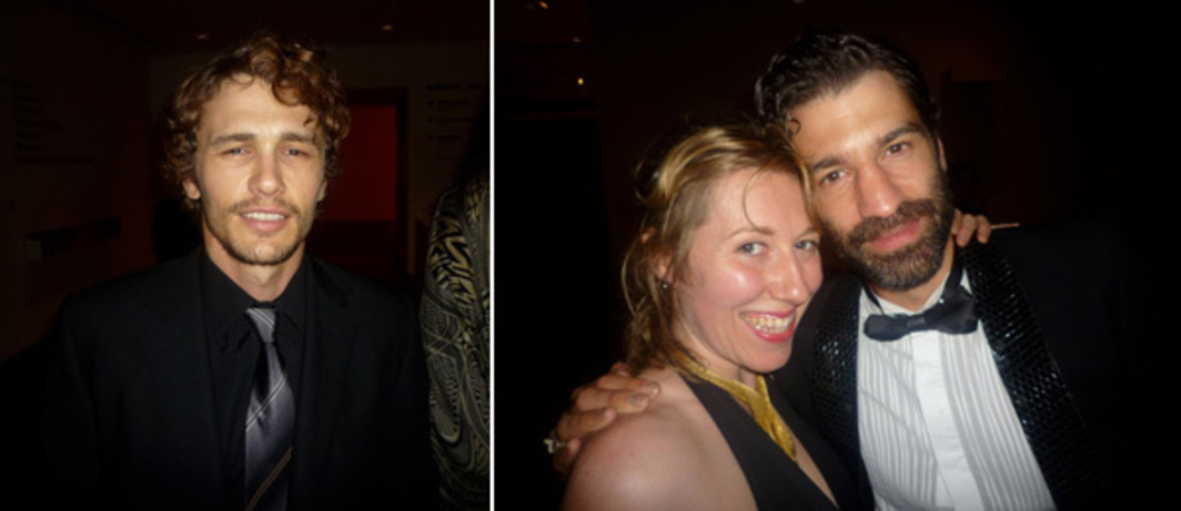 Left: James Franco. Right: Martha Wainwright and Jörn Weisbrodt.