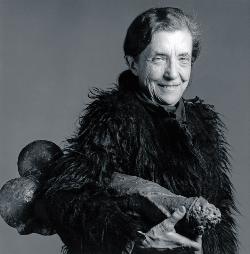 "Robert Mapplethorpe, Louise Bourgeois, 1982, black-and-white photograph, 20 x 16"". © The Robert Mapplethorpe Foundation/Art + Commerce."