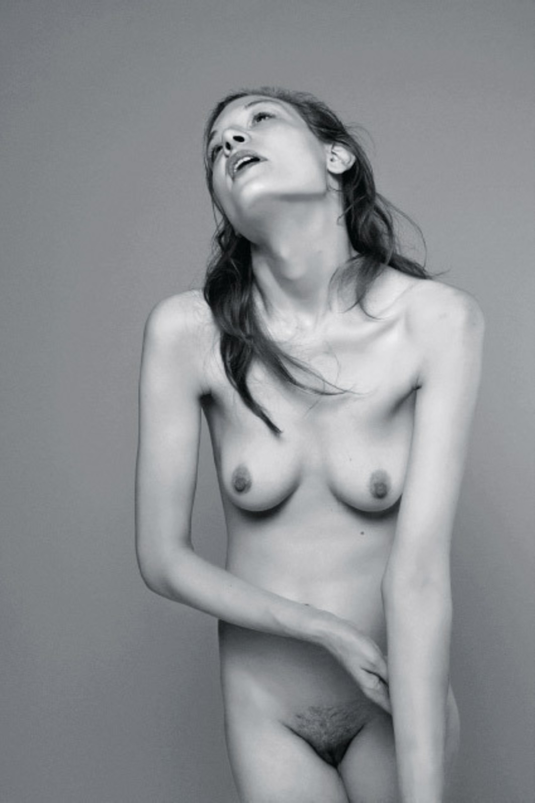"Ryan McGinley, Lauren, 2010, black-and-white photograph, 18 x 12""."