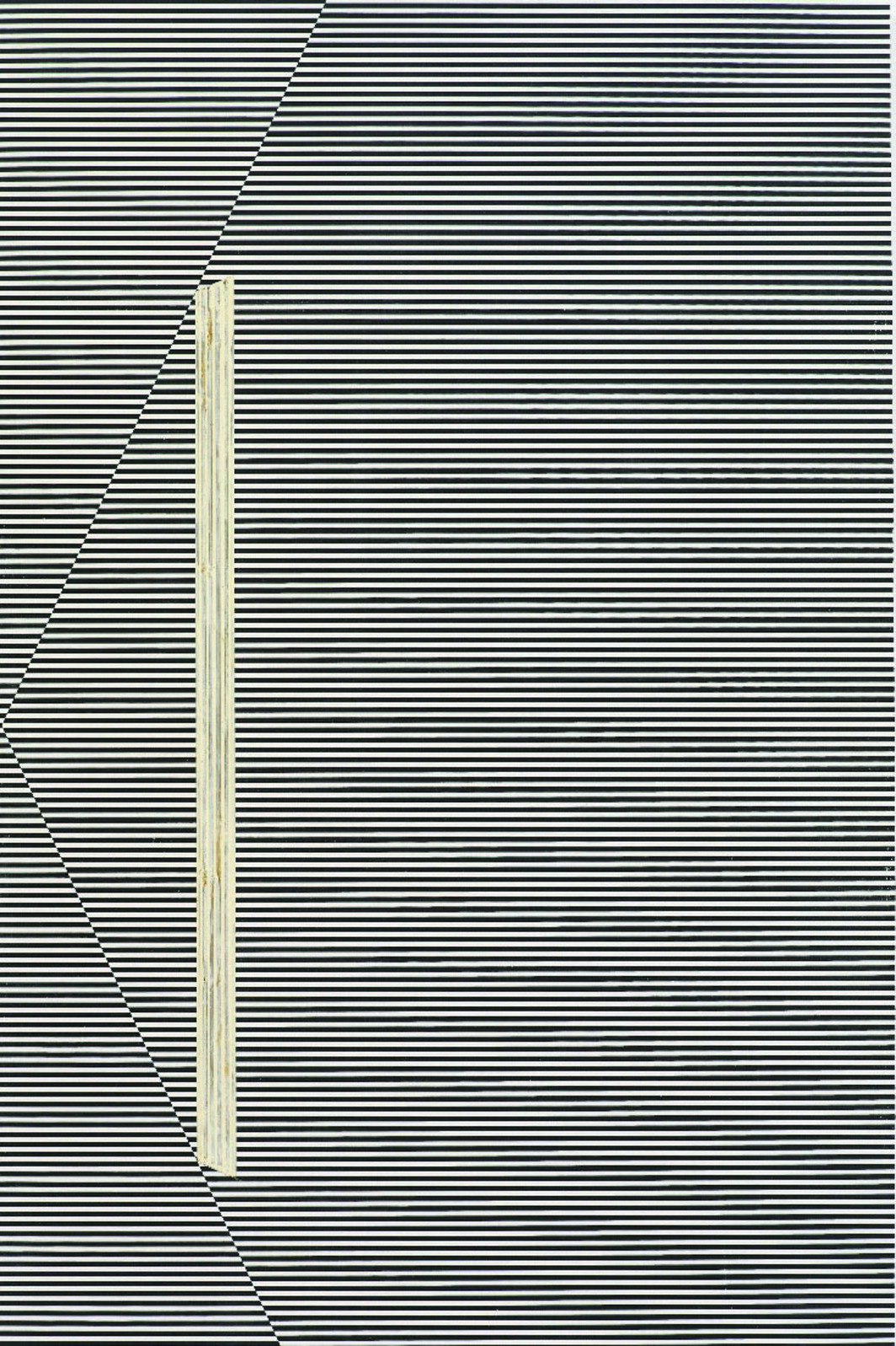 "R.H. Quaytman, Exhibition Guide, Chapter 15, 2009, oil, silk screen, gesso on wood, 32 3/8 x 20""."