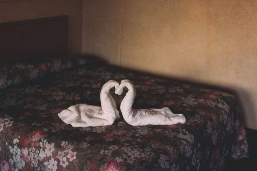 "Alec Soth, Two Towels, 2004, color photograph, 24 x 30""."