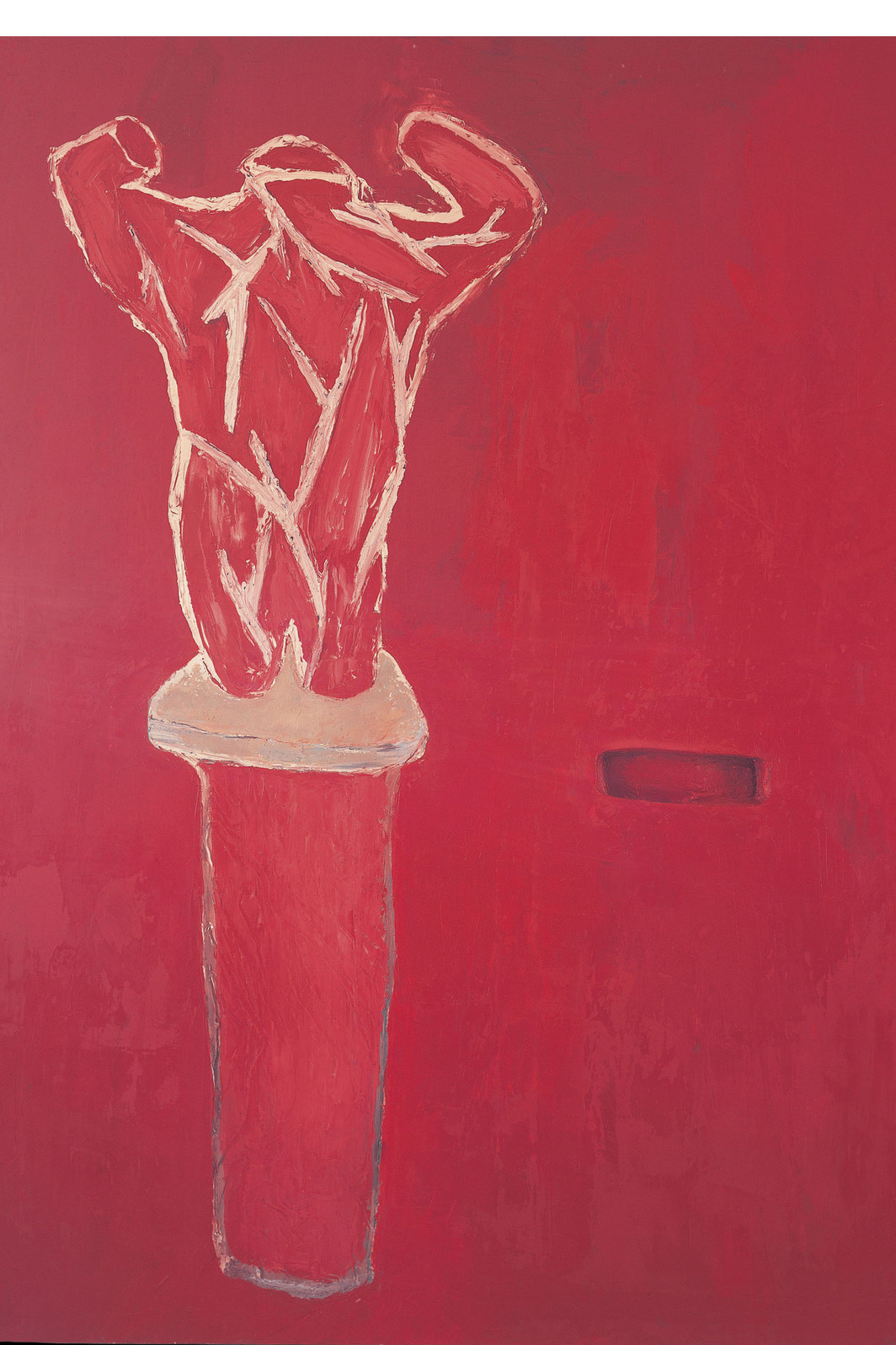 Julian Schnabel, Accatone, 1978, oil and wax on canvas, 7' x 6'.