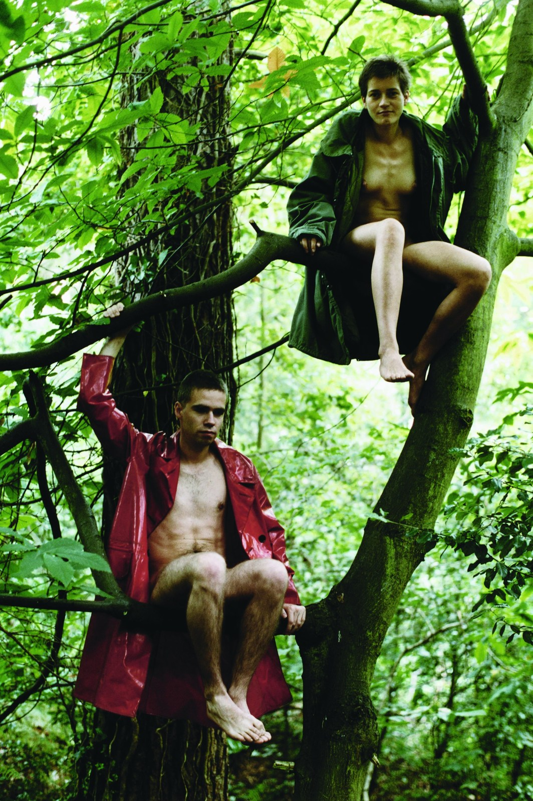 "Wolfgang Tillmans, Lutz & Alex sitting in the trees, 1992, unframed ink-jet print on paper, 70 x 54""."