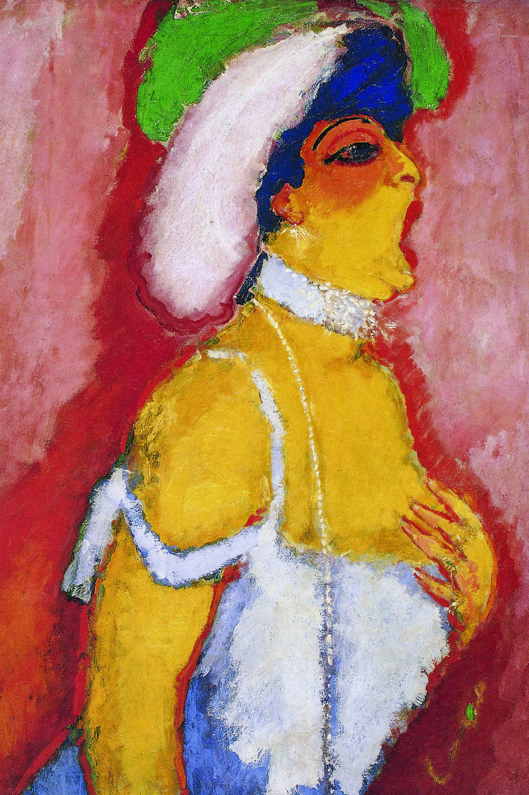 "Kees van Dongen, Modjesko, Soprano Singer, 1907, oil on canvas, 39 x 32""."