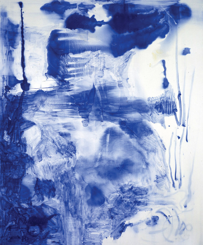 "Sigmar Polke, Lapis Lazuli II, 1994, lapis lazuli and dammar resin on canvas, 9' 10 1/8"" x 7' 4 3/8"". All works by Sigmar Polke © Artists Rights Society (ARS), New York."