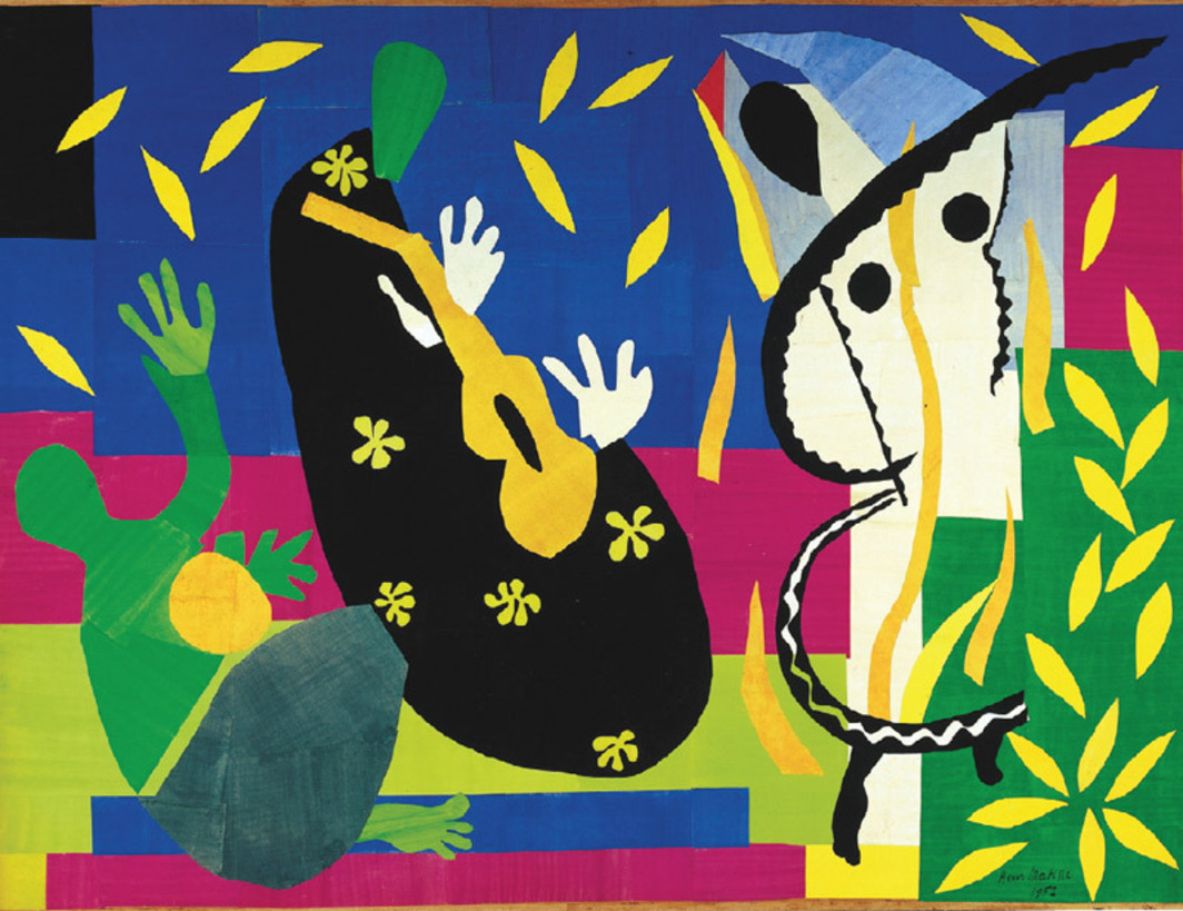 "Henri Matisse, La Tristesse du roi (The Sorrows of the King), 1952, gouache on canvas, 9' 6 7/8"" x 12' 7 7/8"". © Succession H. Matisse/Artists Rights Society (ARS), New York."