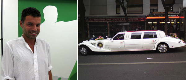 Left: Dealer Daniele Balice. (Photo: Kate Sutton) Right: The Belleville Limo. (Photo: Yann Rondeau)