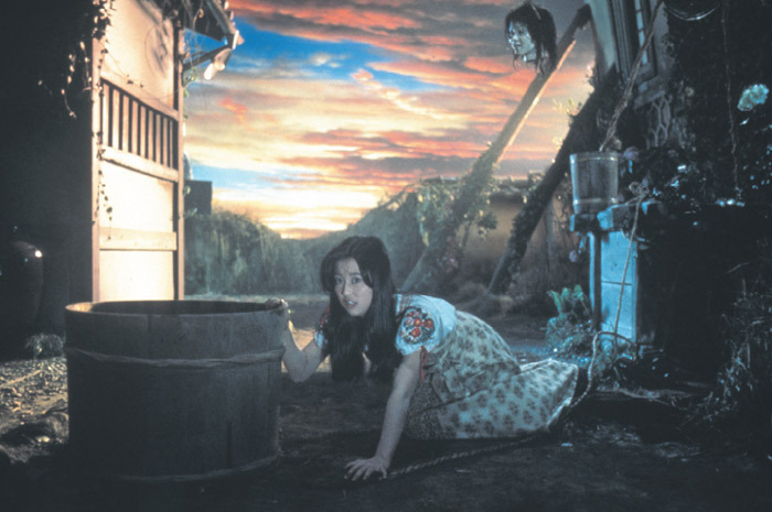 Obayashi Nobuhiko, House, 1977, stills from a color film in 35 mm, 88 minutes. Fantasy (Ohba Kumiko).