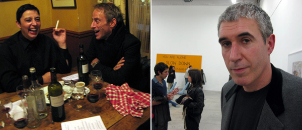 Left: Kunsthalle Zürich director Beatrix Ruf (left). Right: Artist Adam McEwen.