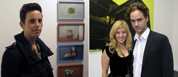 Left: Dealer Jessica Silverman. Right: Dealers Raphaelle Bischoff and Magnus Edensvard.
