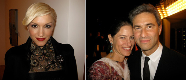 Left: Gwen Stefani. Right: Katharine Ross with LACMA director Michael Govan.