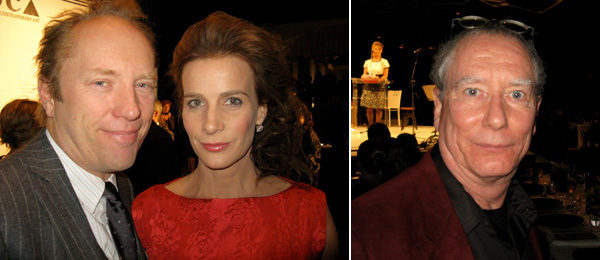Left: Andrew Taylor and Rachel Griffiths. Right: Artist Mike Kelley.